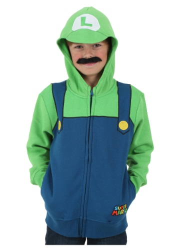 Boys Super Mario Luigi Hoodie By: Fifth Sun for the 2015 Costume season.