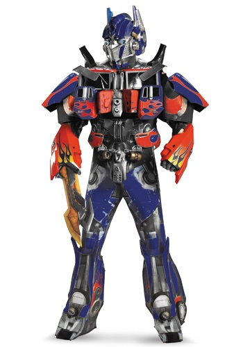 Click Here to buy Adult Authentic Optimus Prime Costume w/ Vacuform from HalloweenCostumes, USA Funds & Shipping