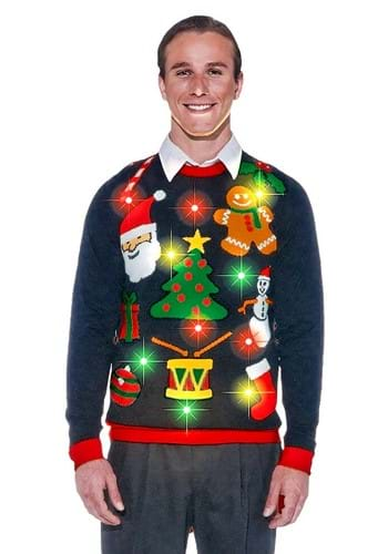 Everything Christmas Lighted Ugly Xmas Sweater