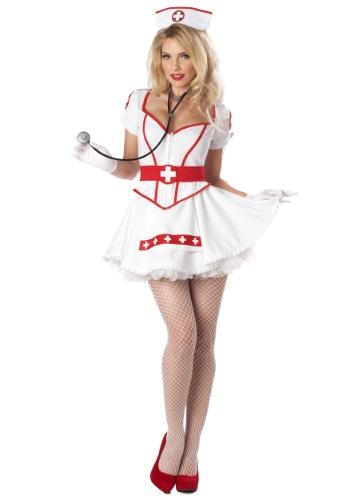 Womens Plus Size Nurse Heartbreaker Costume