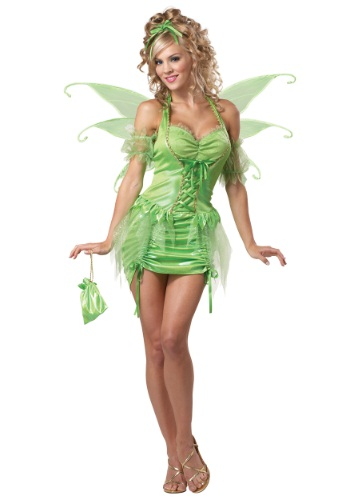 Click Here to buy Womens Plus Size Tinkerbell Fairy Costume from HalloweenCostumes, USA Funds & Shipping