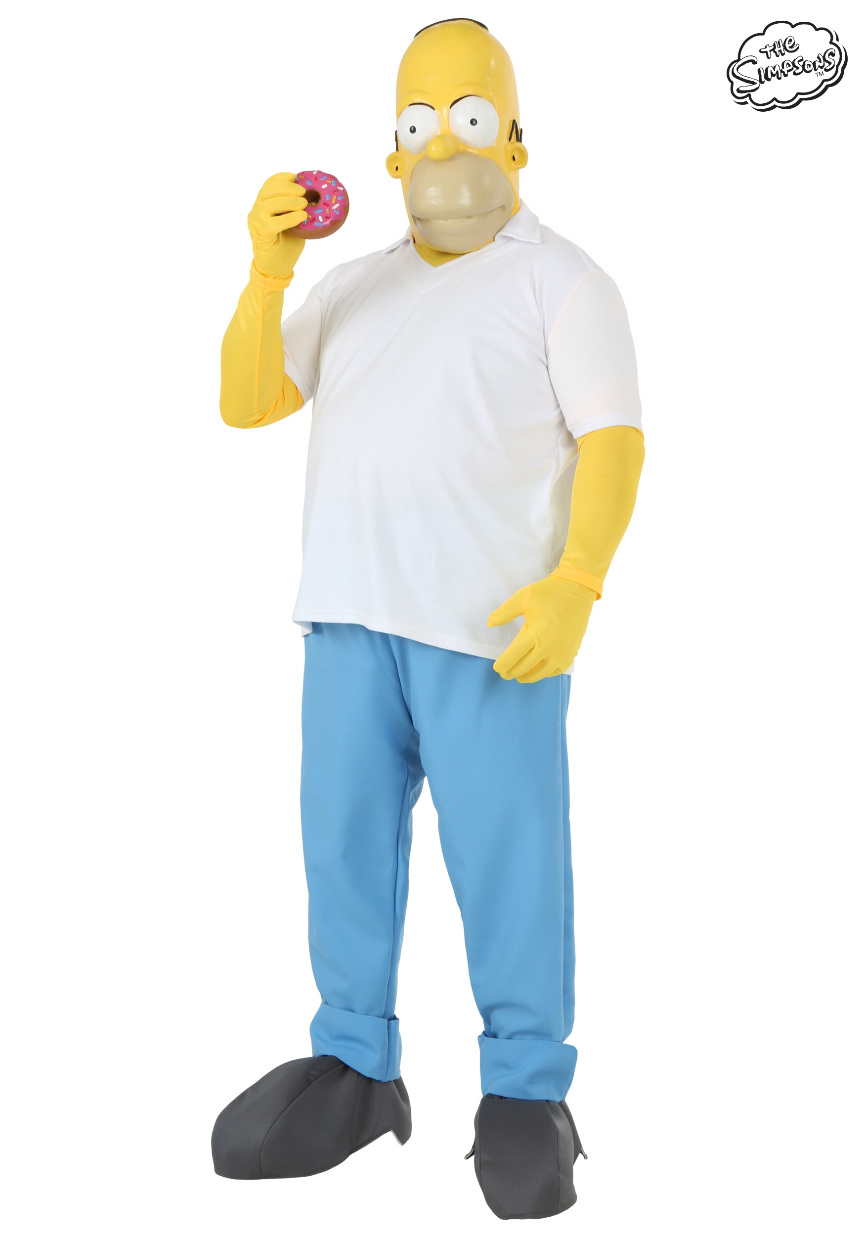 the simpsons plus size homer simpson costume 2x 3x 4x
