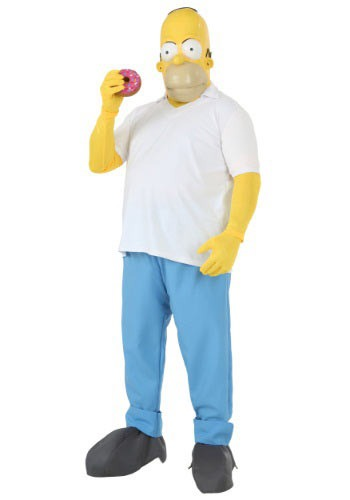 The Simpsons Plus Size Homer Simpson Costume 2X 3X 4X