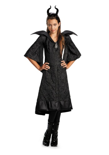 Click Here to buy Girls Classic Maleficent Christening Gown from HalloweenCostumes, USA Funds & Shipping