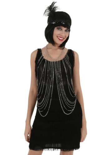 Adult Silver Body Chain By: Western Fashion for the 2015 Costume season.