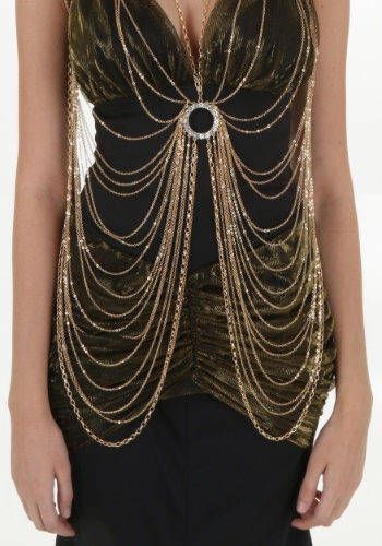 Adult Gold Body Chain By: Western Fashion for the 2015 Costume season.
