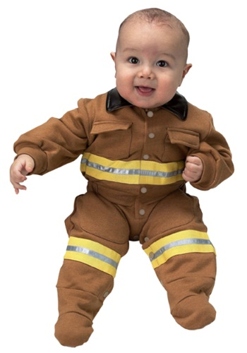 Click Here to buy Baby Firefighter Costume from HalloweenCostumes, USA Funds & Shipping