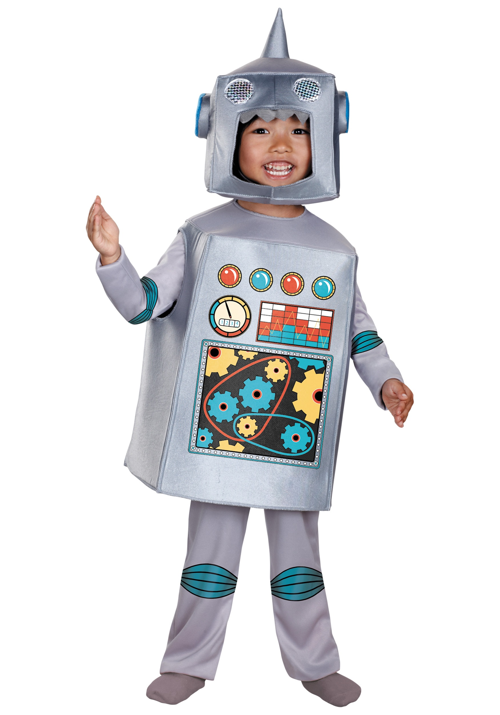Toddler And Child Retro Robot Costume