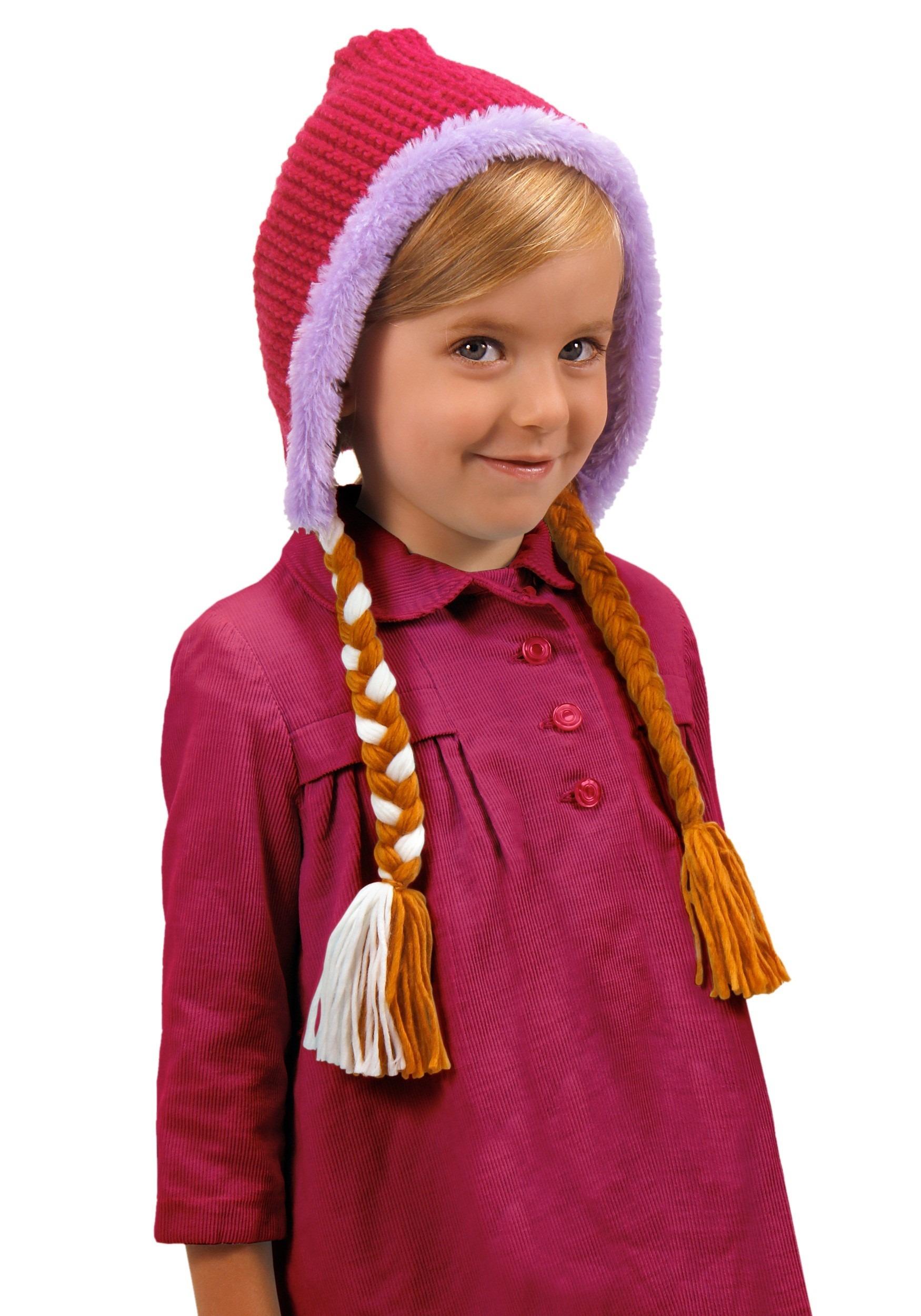 sc 1 st  Halloween Costumes & Frozen Anna Child Hat With Braids
