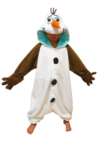 Click Here to buy Kids Olaf Pajama Costume from HalloweenCostumes, CDN Funds