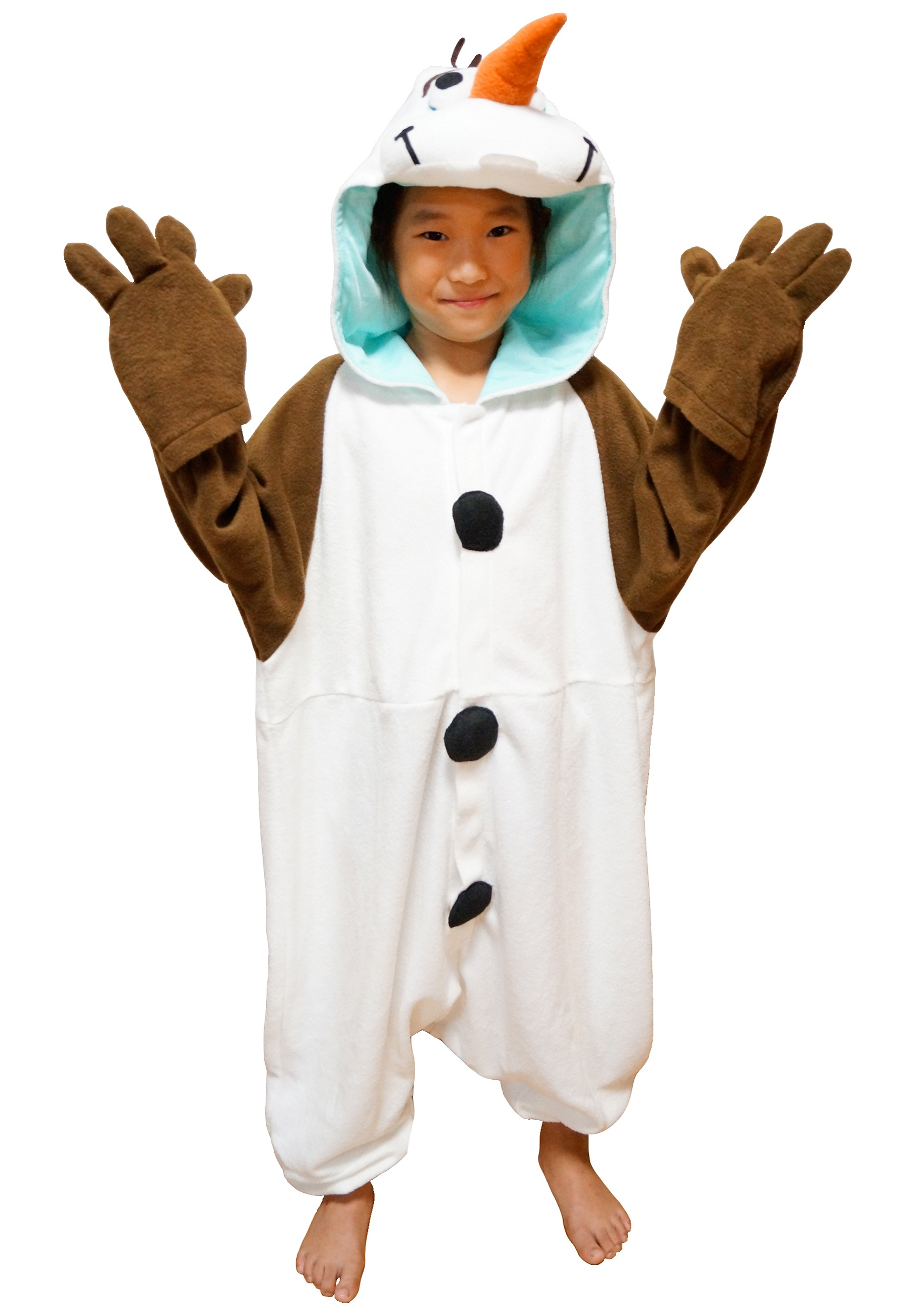 Kids Olaf Pajama Costume Kids Olaf Pajama Costume Alt1 ...  sc 1 st  Halloween Costumes : olaf costume for boys  - Germanpascual.Com
