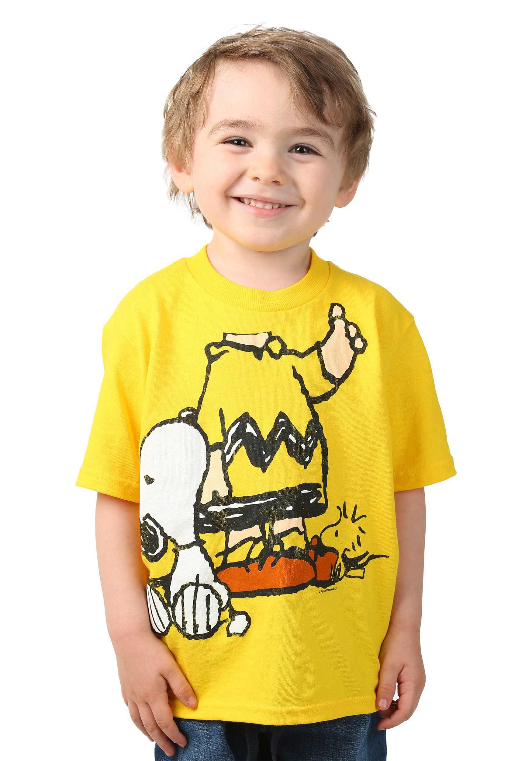 peanuts i am chuck with snoopy t-shirt costume for toddlers