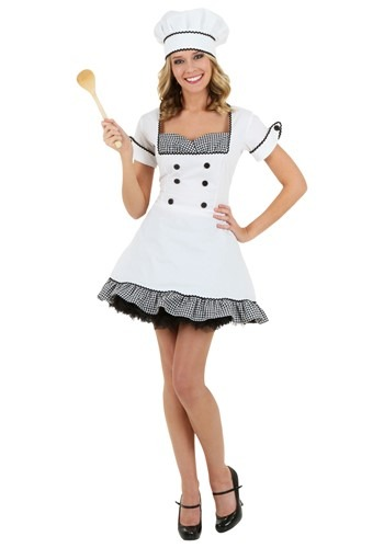 Click Here to buy Plus Size Sexy Chef Costume from HalloweenCostumes, USA Funds & Shipping