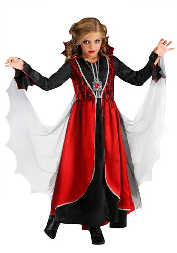 Click Here to buy Girls Vampire Costume from HalloweenCostumes, USA Funds & Shipping