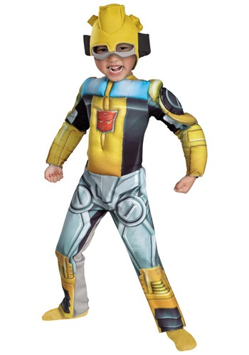 Click Here to buy Toddler Bumblebee Rescue Bot Costume from HalloweenCostumes, USA Funds & Shipping