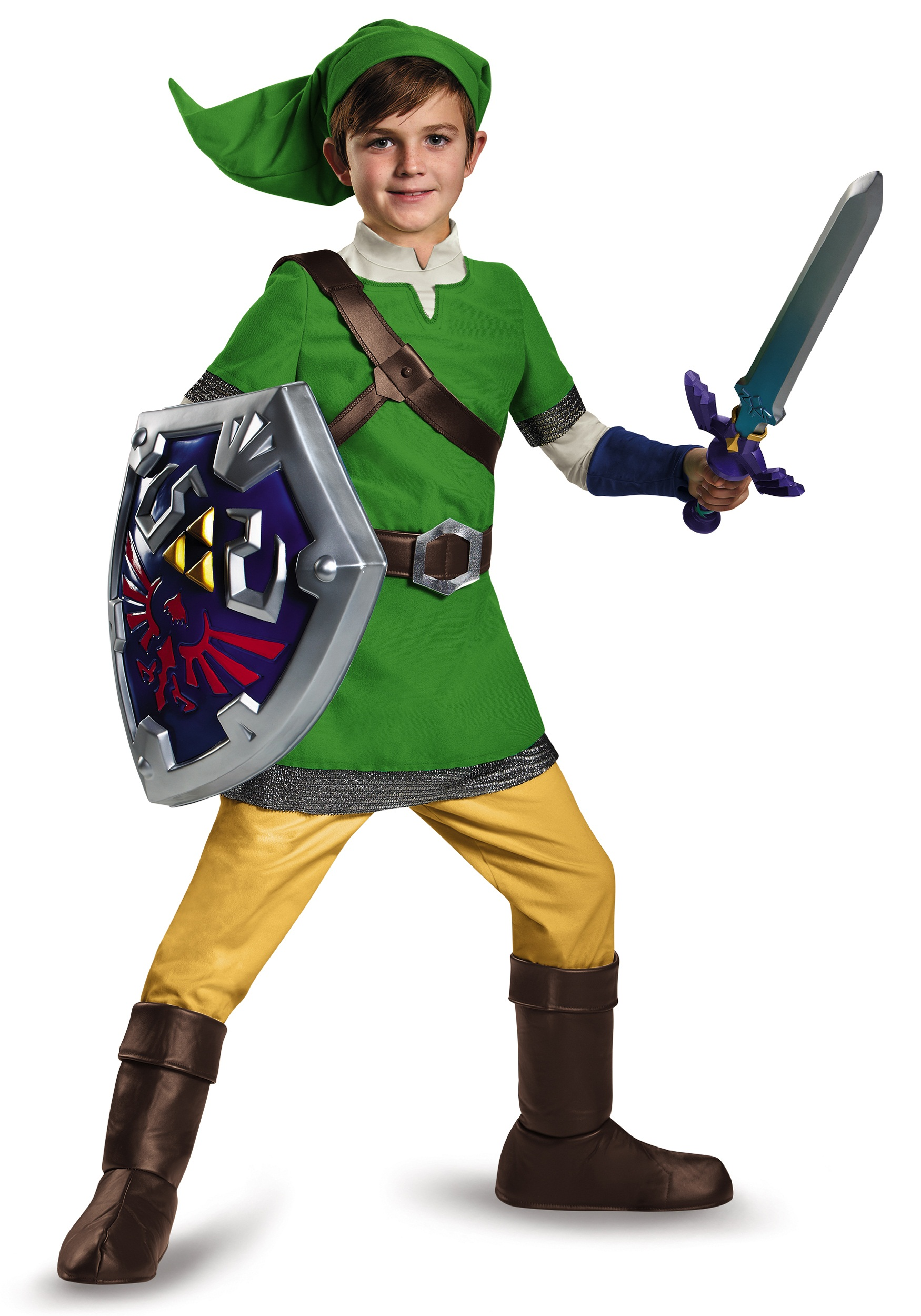 sc 1 st  Halloween Costumes & Deluxe Child Link Costume