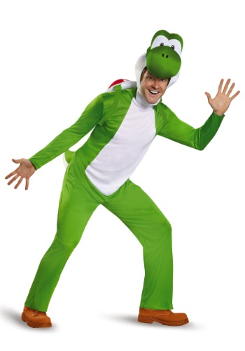 Click Here to buy Deluxe Adult Yoshi Costume from HalloweenCostumes, USA Funds & Shipping