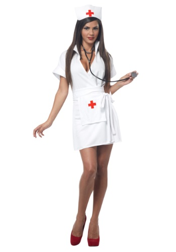 Click Here to buy Plus Size Fashion Nurse Costume from HalloweenCostumes, CDN Funds