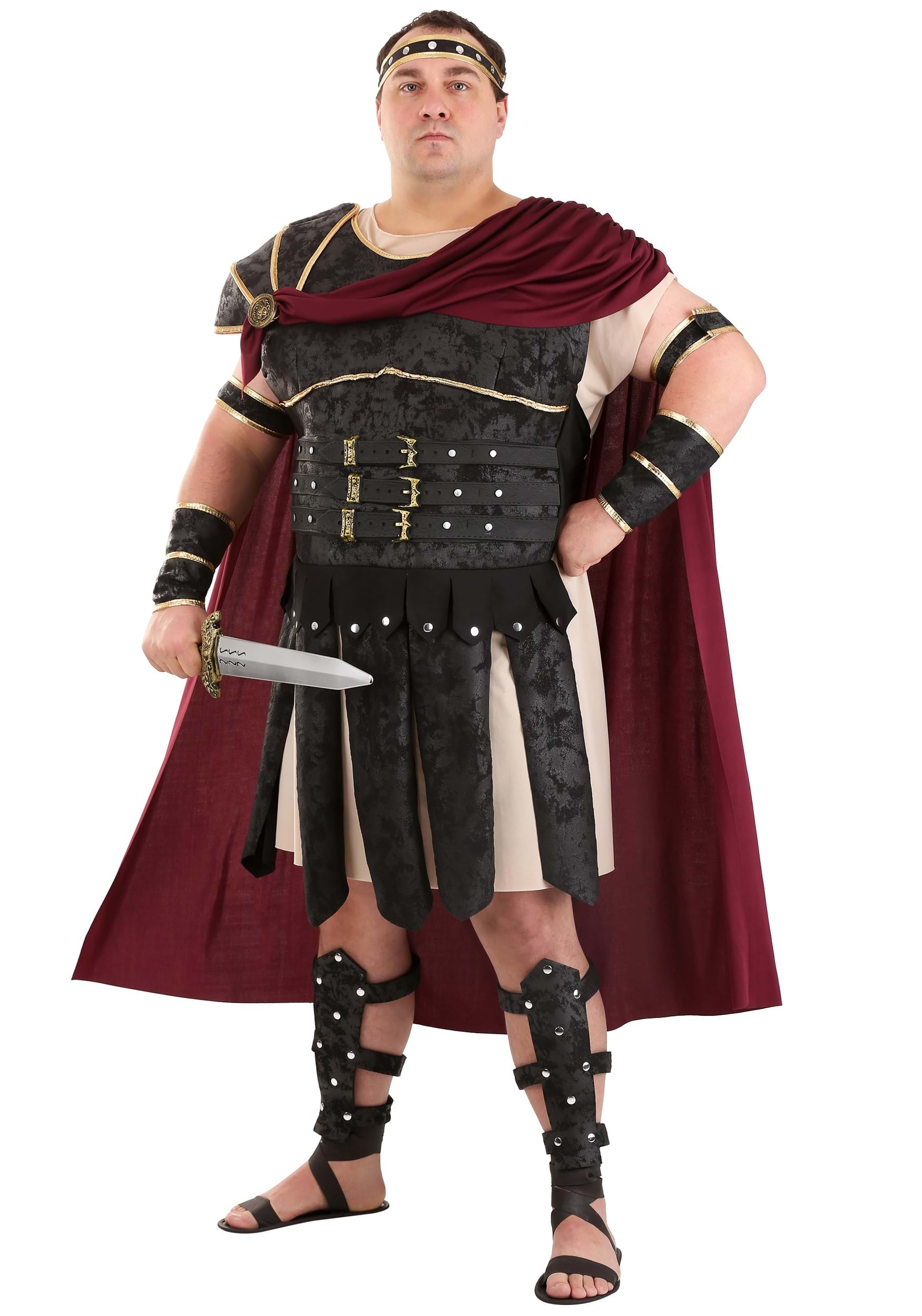 Plus Size Roman Gladiator Costume  sc 1 st  Halloween Costumes : real gladiator costume  - Germanpascual.Com