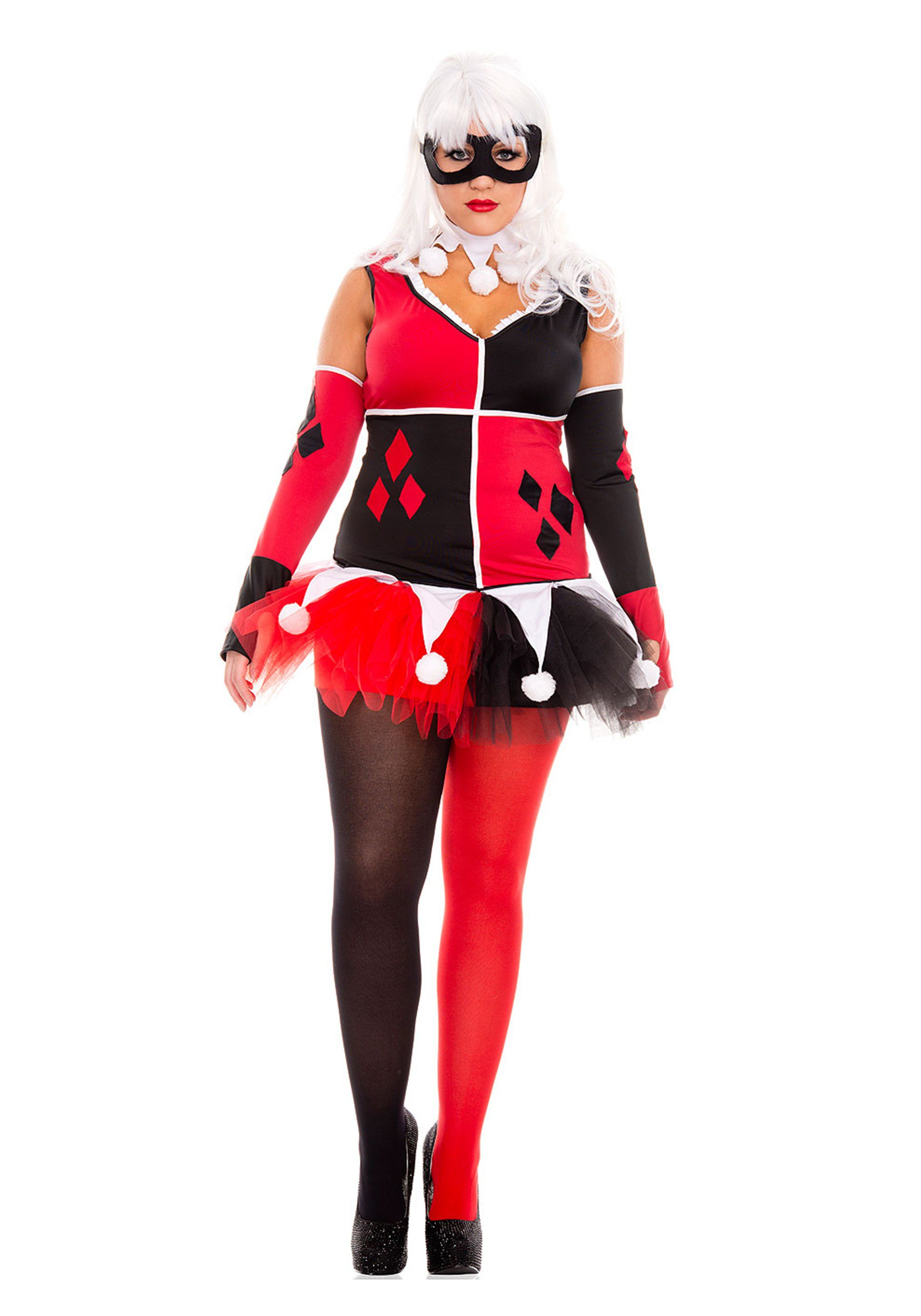 Women\'s Plus Size Harley Jester Costume