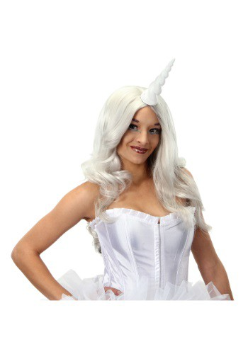White Unicorn Horn By: Elope for the 2015 Costume season.