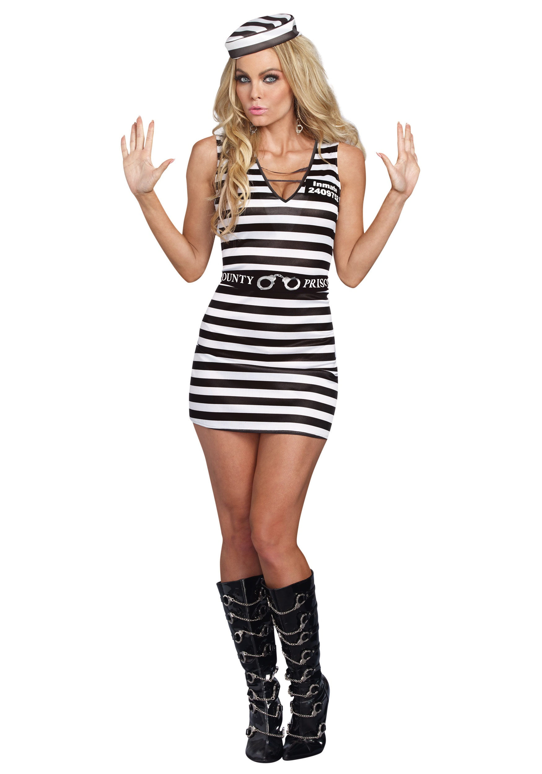 Womens Sexy Prisoner Costume-1219