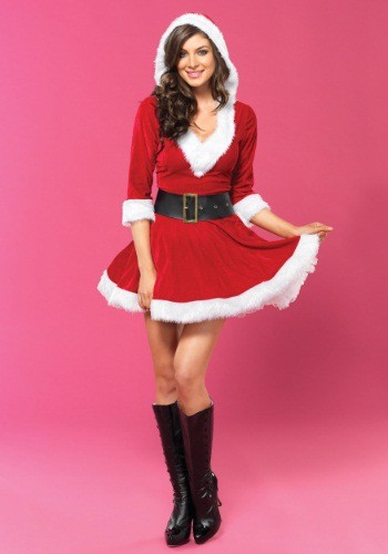Click Here to buy Sassy Mrs Claus Costume from HalloweenCostumes, CDN Funds