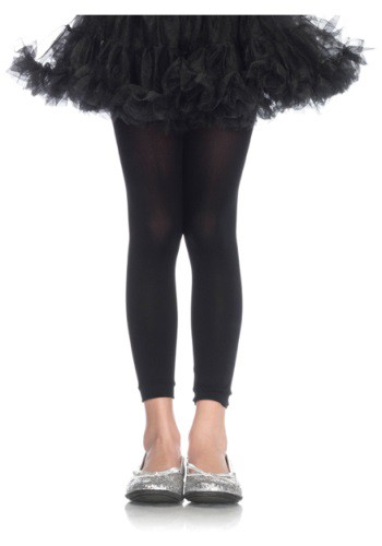 Click Here to buy Girls Black Footless Tights from HalloweenCostumes, CDN Funds