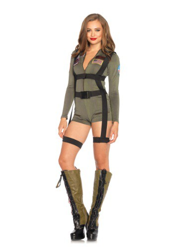 Women's Top Gun Romper Halloween Costume