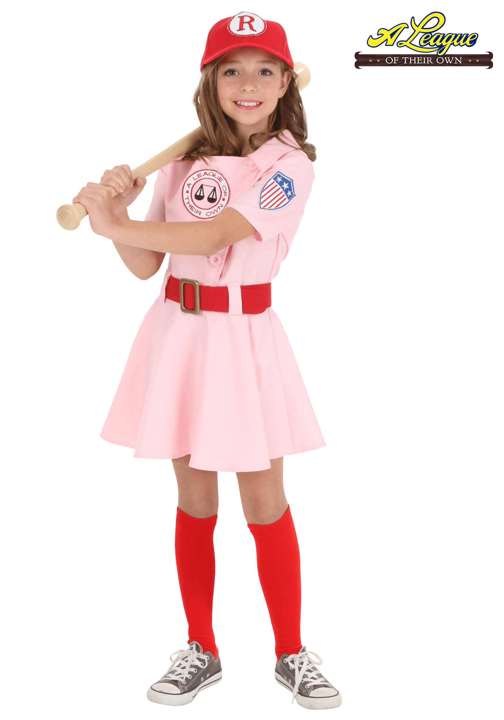 Child a league of their own dottie costume for Cool halloween costumes for kids girls