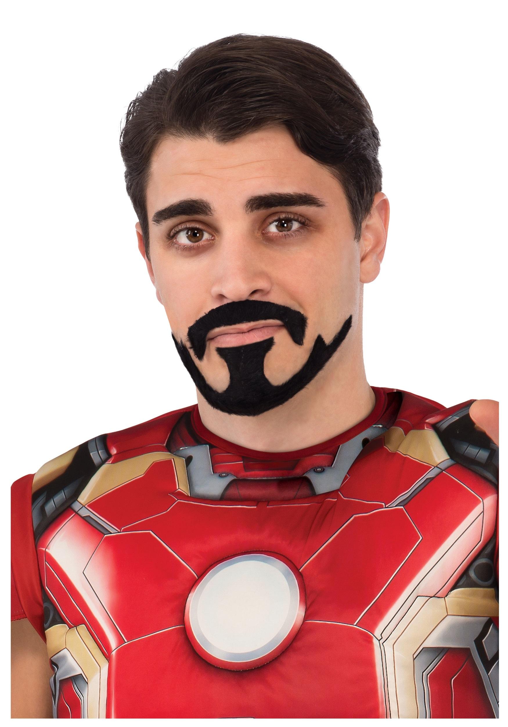 Tony Stark Halloween Costume.Tony Stark Iron Man Mustache Goatee