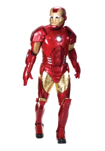 Click Here to buy Authentic Mens Iron Man Costume from HalloweenCostumes, CDN Funds