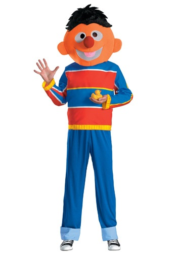 Click Here to buy Adult Ernie Costume from HalloweenCostumes, USA Funds & Shipping