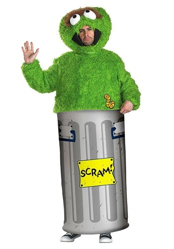 Adult Oscar the Grouch Costume upd