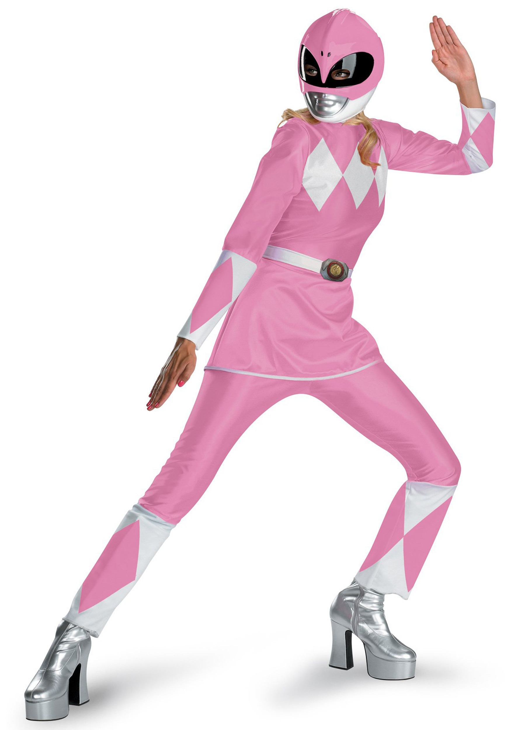 Disguise Womens Pink Ranger Adult Mask