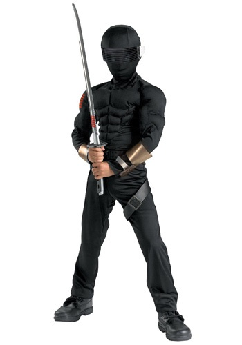 Click Here to buy Deluxe Kids Snake Eyes Costume from HalloweenCostumes, USA Funds & Shipping