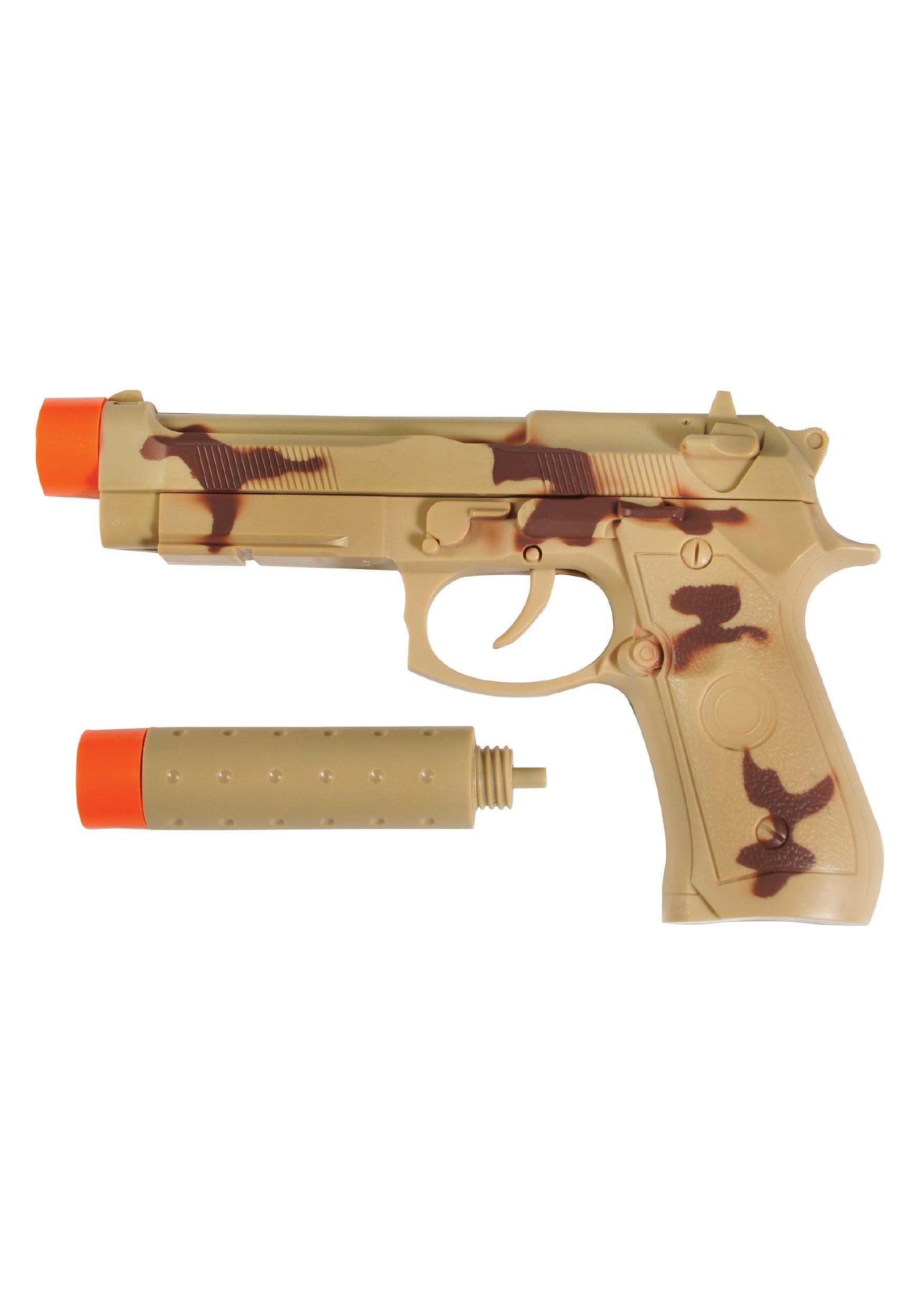 toy pistol w silencer