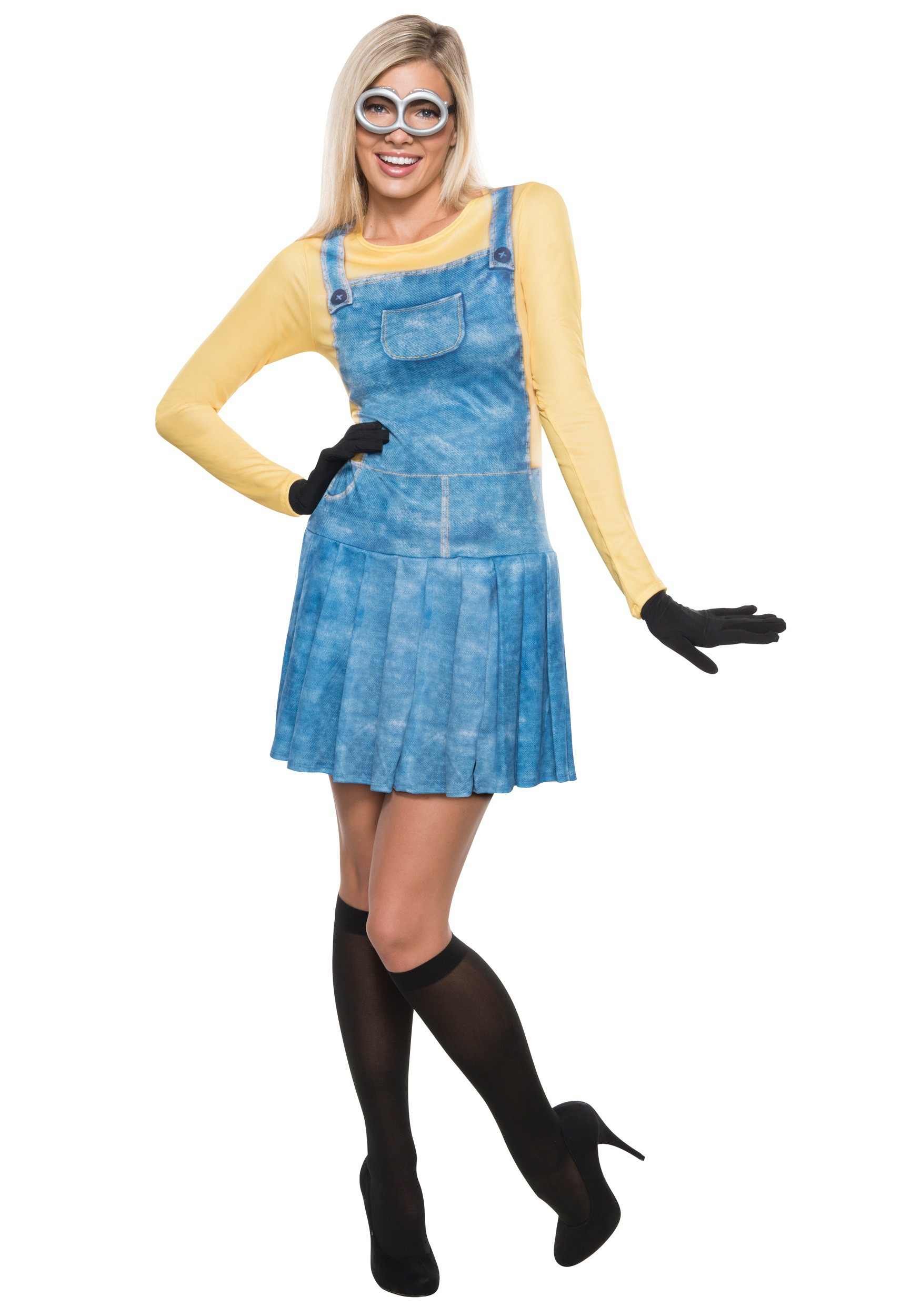 Adult women 39 s minion costume for Diy halloween costumes for adult women