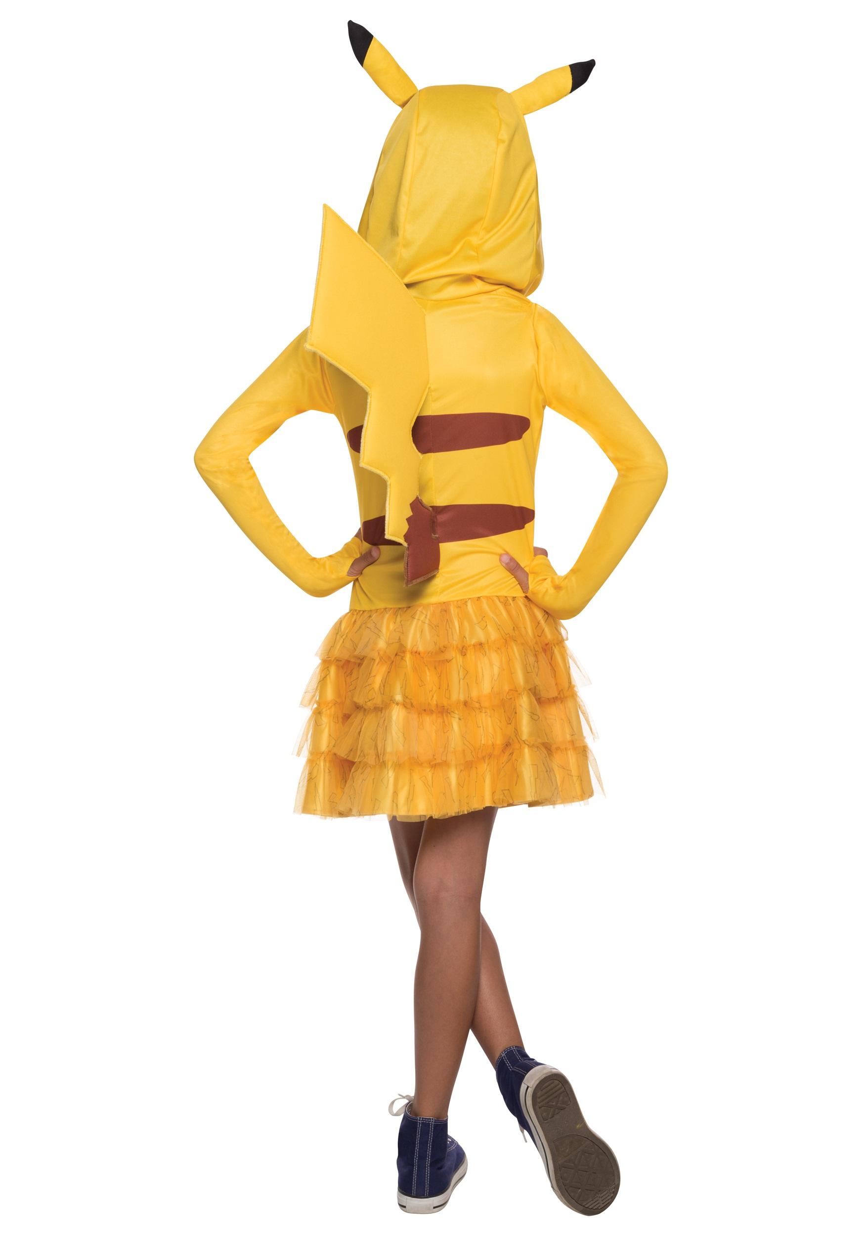 Girls Pikachu Hoodie Dress Girls Pikachu Hoodie Dress logo. Buy New$39.99