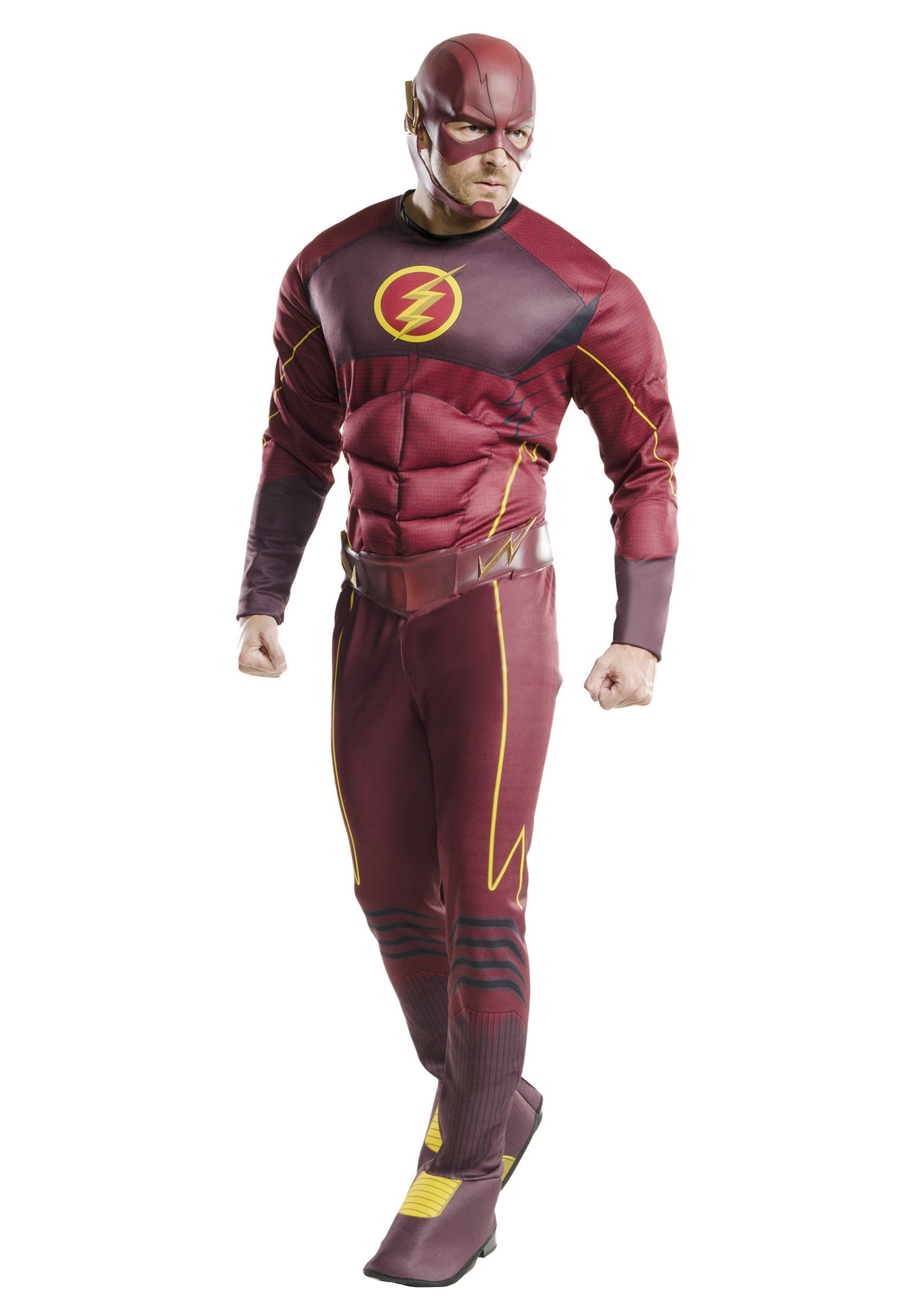 Adult Deluxe The Flash Costume  sc 1 st  Halloween Costumes : childrens flash costume  - Germanpascual.Com