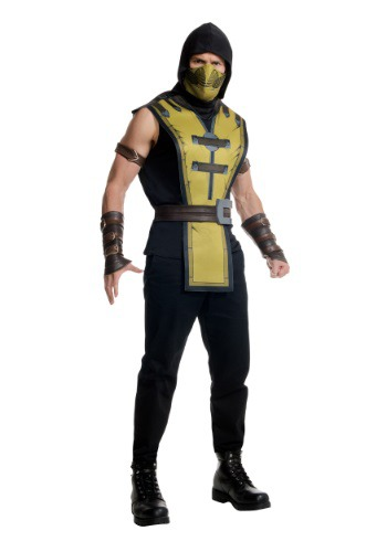 Click Here to buy Mortal Kombat X Adult Scorpion Costume from HalloweenCostumes, CDN Funds