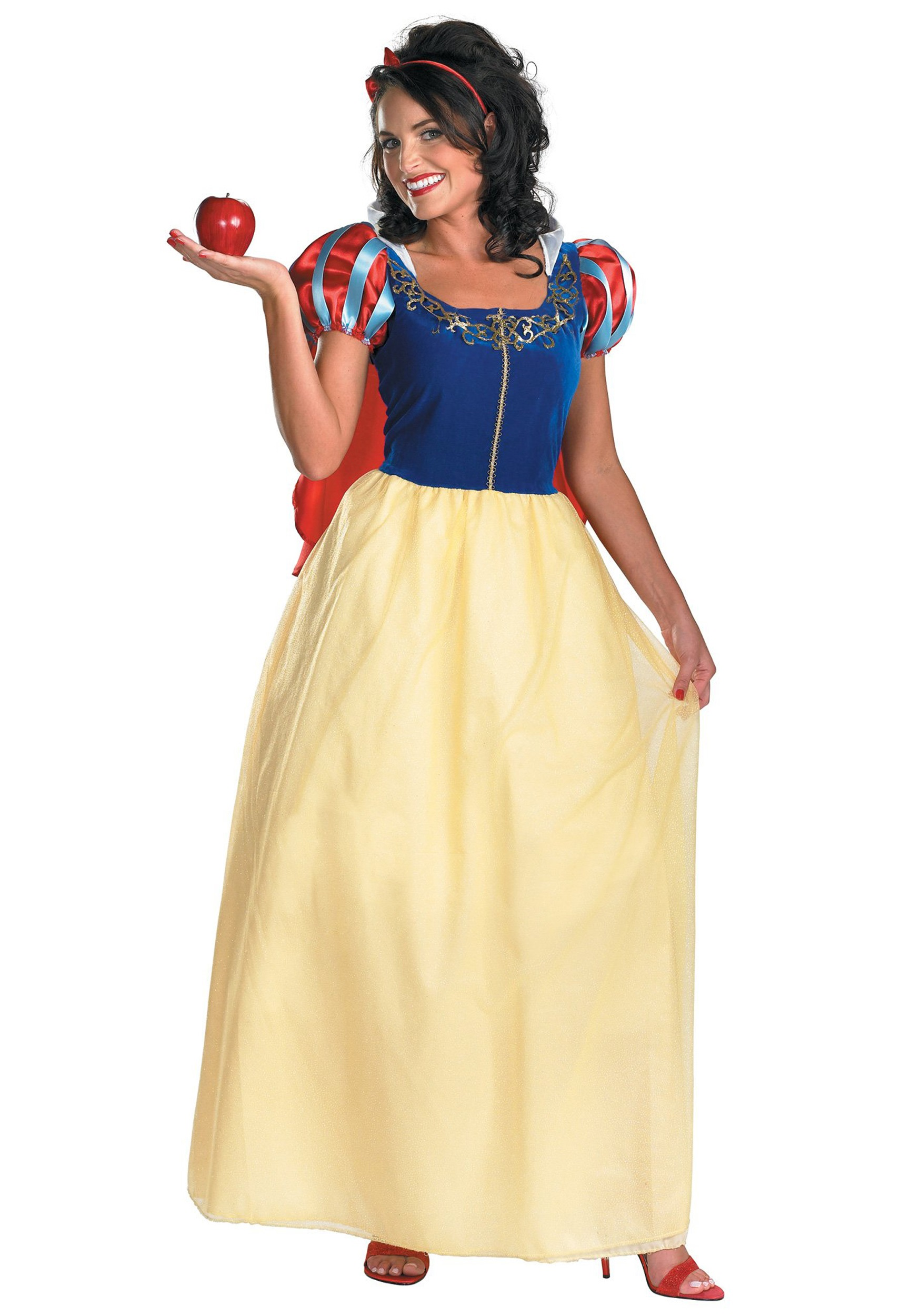 Bring your favorite Disney movie to life with this adult Snow White costume.