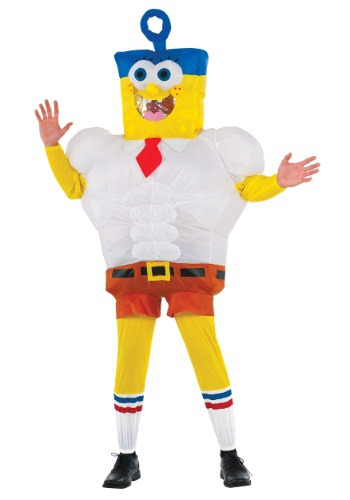 Click Here to buy Adult Inflatable SpongeBob Movie Costume from HalloweenCostumes, CDN Funds
