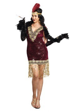 Plus Size Sophisticated Lady Flapper Dress
