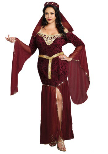 Click Here to buy Plus Size Medieval Enchantress Costume from HalloweenCostumes, USA Funds & Shipping