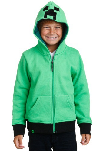 Image of Kids Minecraft Creeper Anatomy Hoodie