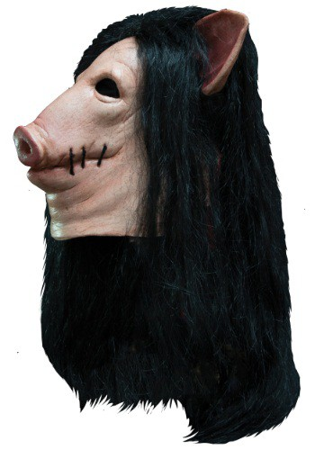 Click Here to buy Saw Adult Pig Mask from HalloweenCostumes, CDN Funds