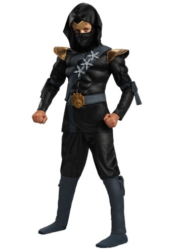 Click Here to buy Boys Black Ninja Classic Muscle Costume from HalloweenCostumes, USA Funds & Shipping