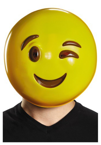 Adult Emoticon Wink Mask