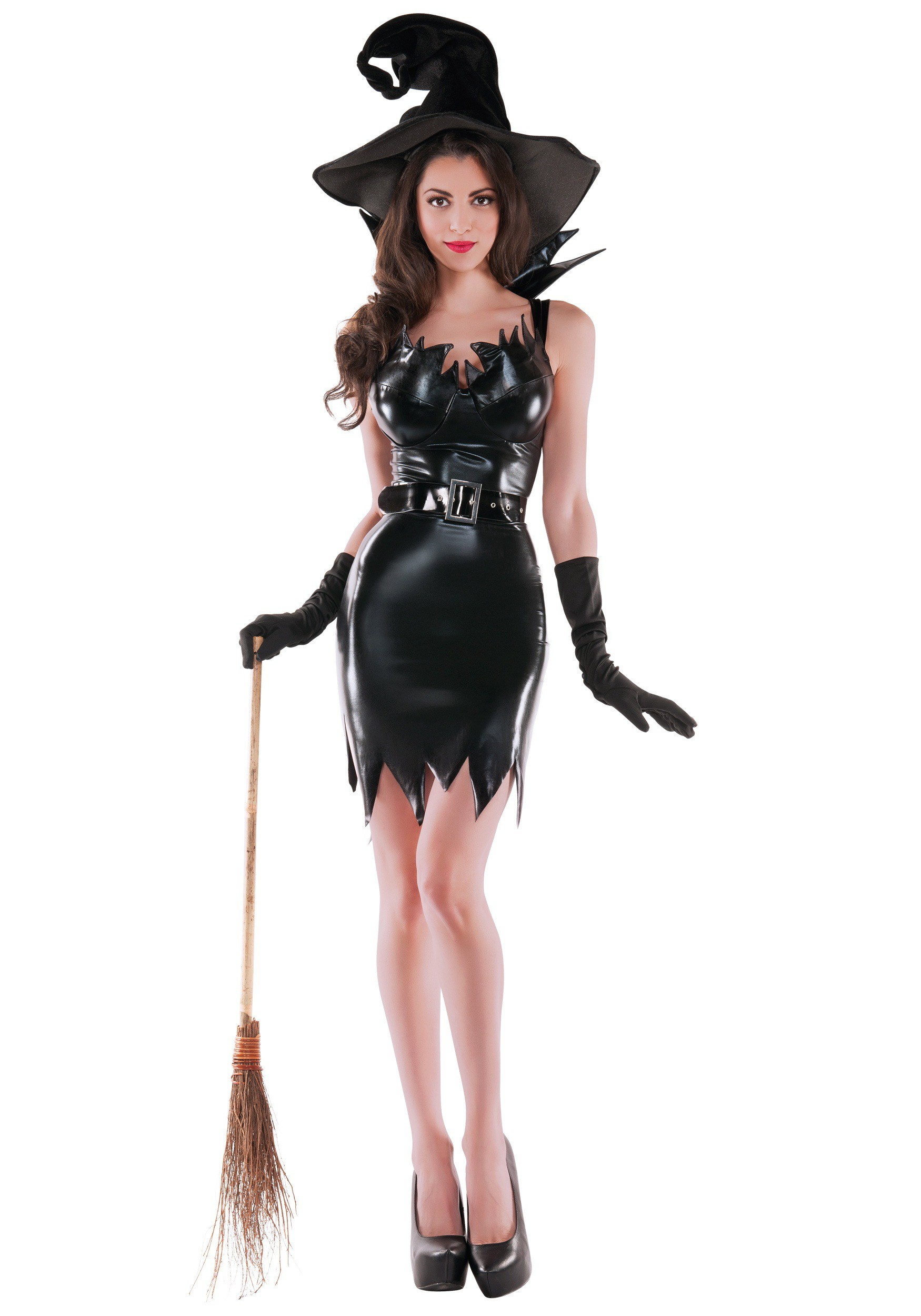 sc 1 st  Halloween Costumes & Womens Liquid Black Witch Costume